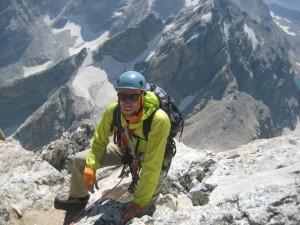 Rogers climbs the Grand Teton.