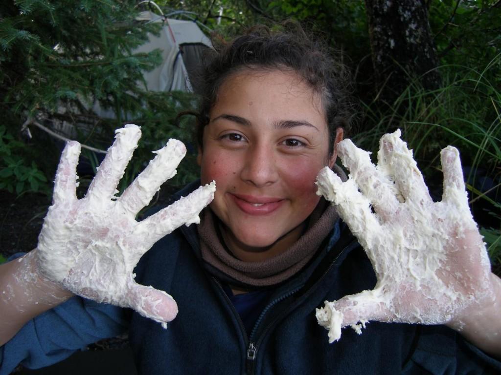 doughy hands