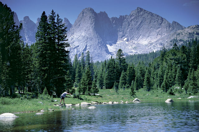 Fly fishing in the Wind River Range, Wyoming