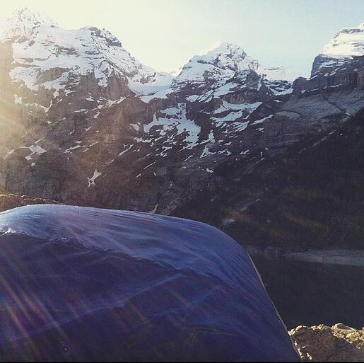 Waking up in a sleeping bag on a weekday.