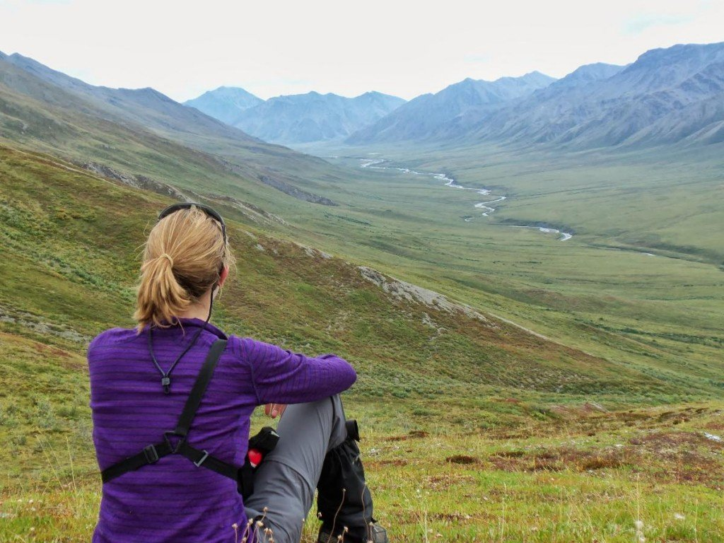 Pausing and taking in the view in Alaska