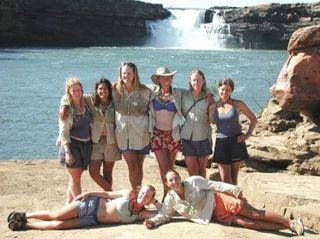 Ladies at the falls