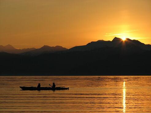 Sunrise off Point Cochrane Ð early morning start