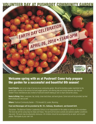 Earth Day Poster NOLS:Pushroot