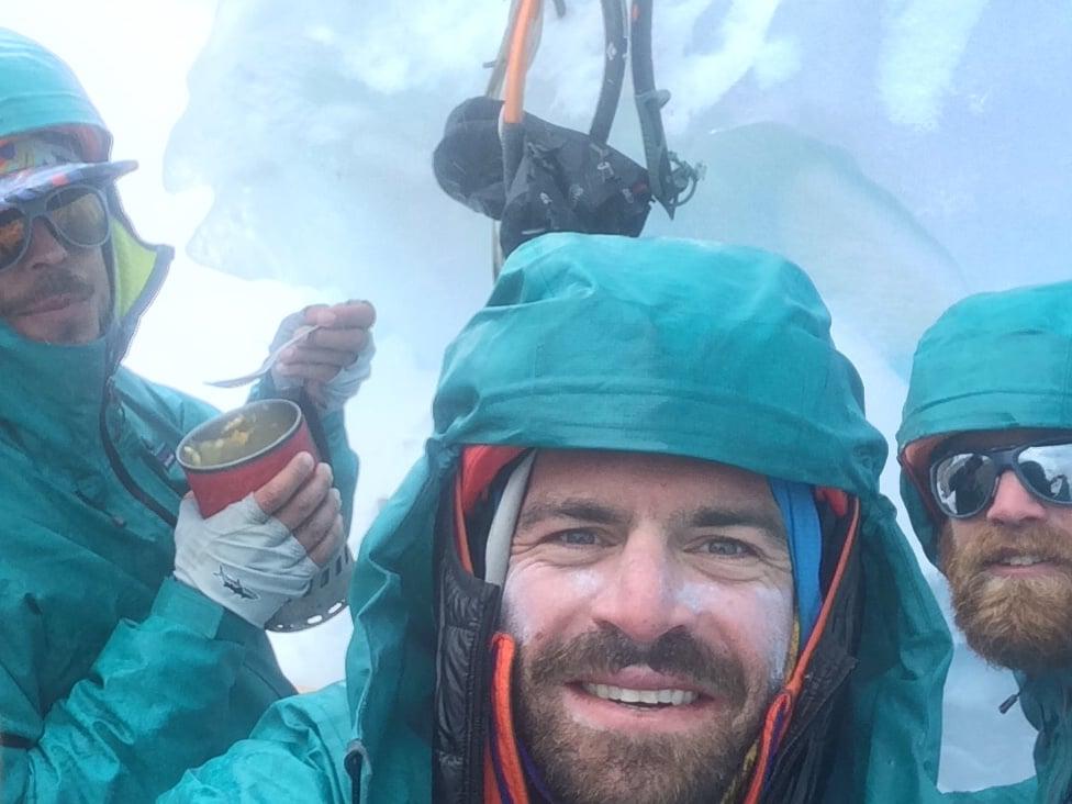 The team during the descent from Cerro Fantasma.