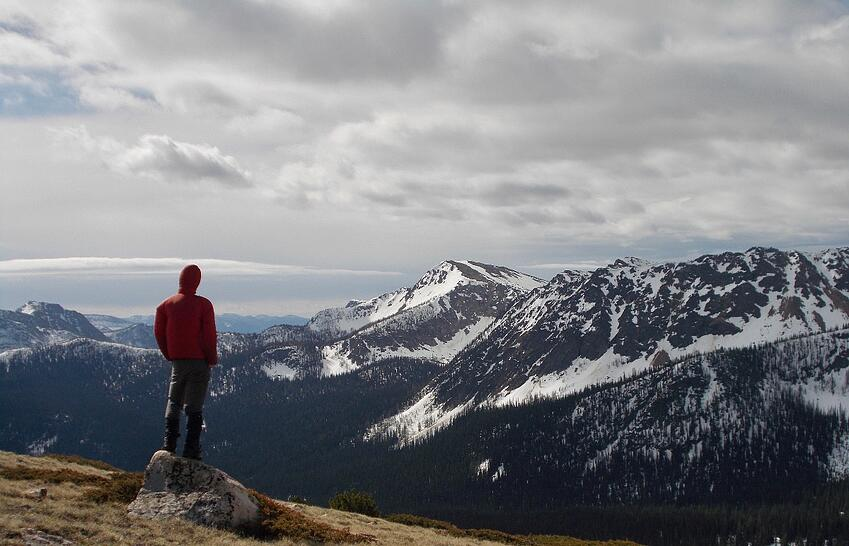 Travis on his Pacific Northwest Backpacking course