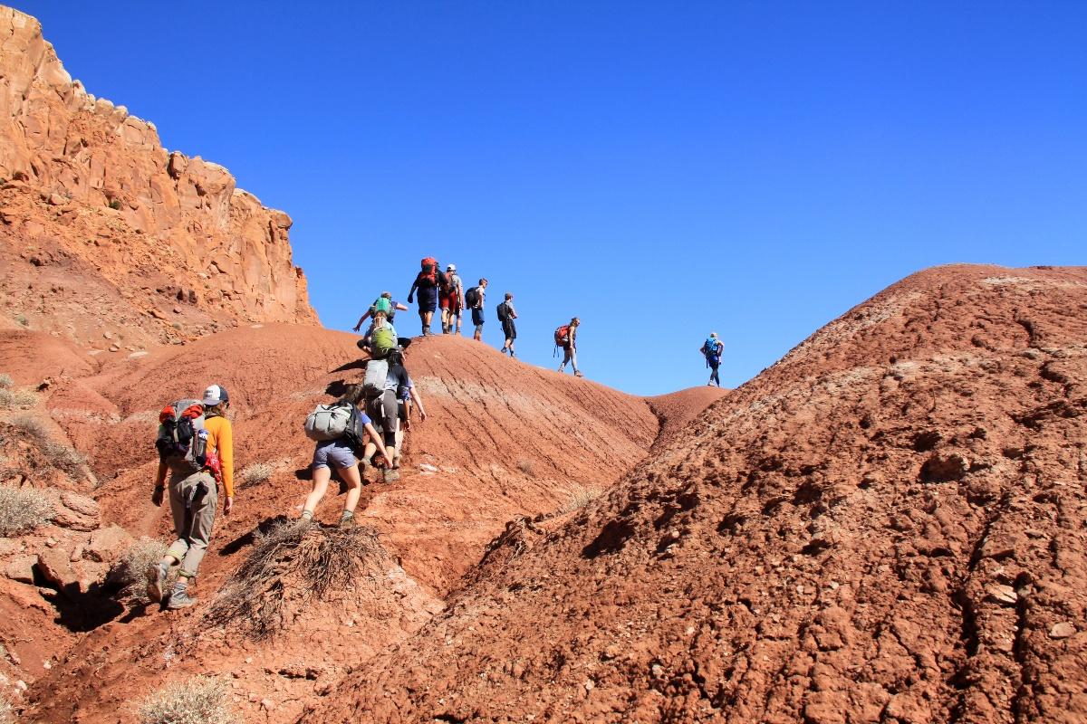 Desert hiking with Marin Academy