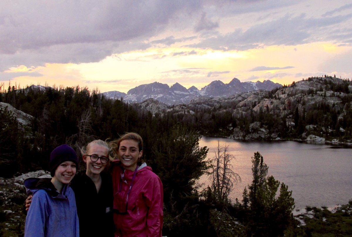 NOLS Students smiling in the Wind River Range