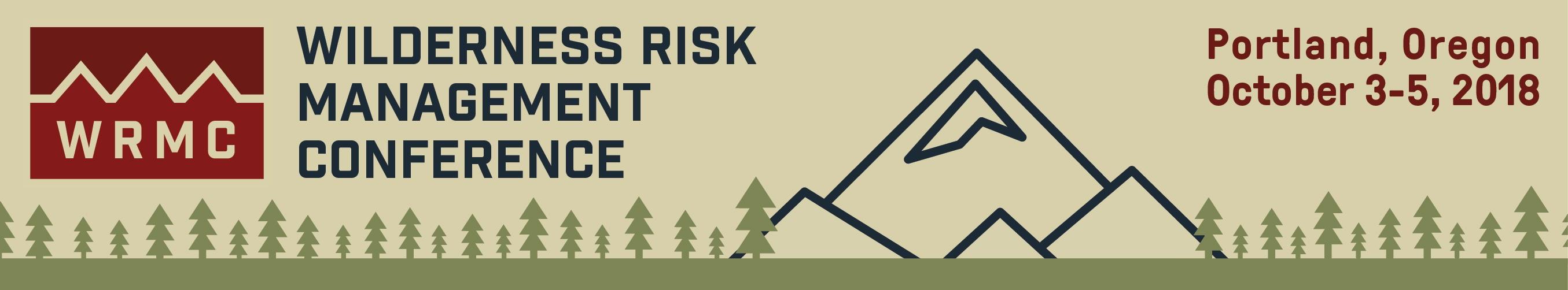 Wilderness Risk Management Conference 2018 Banner