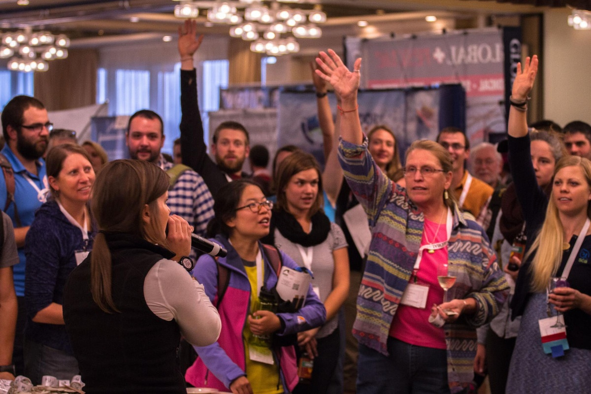 A crowd of people at the 2015 WRMC