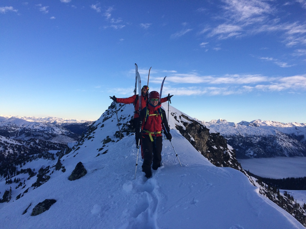 Getting out and skiing during avalanche training