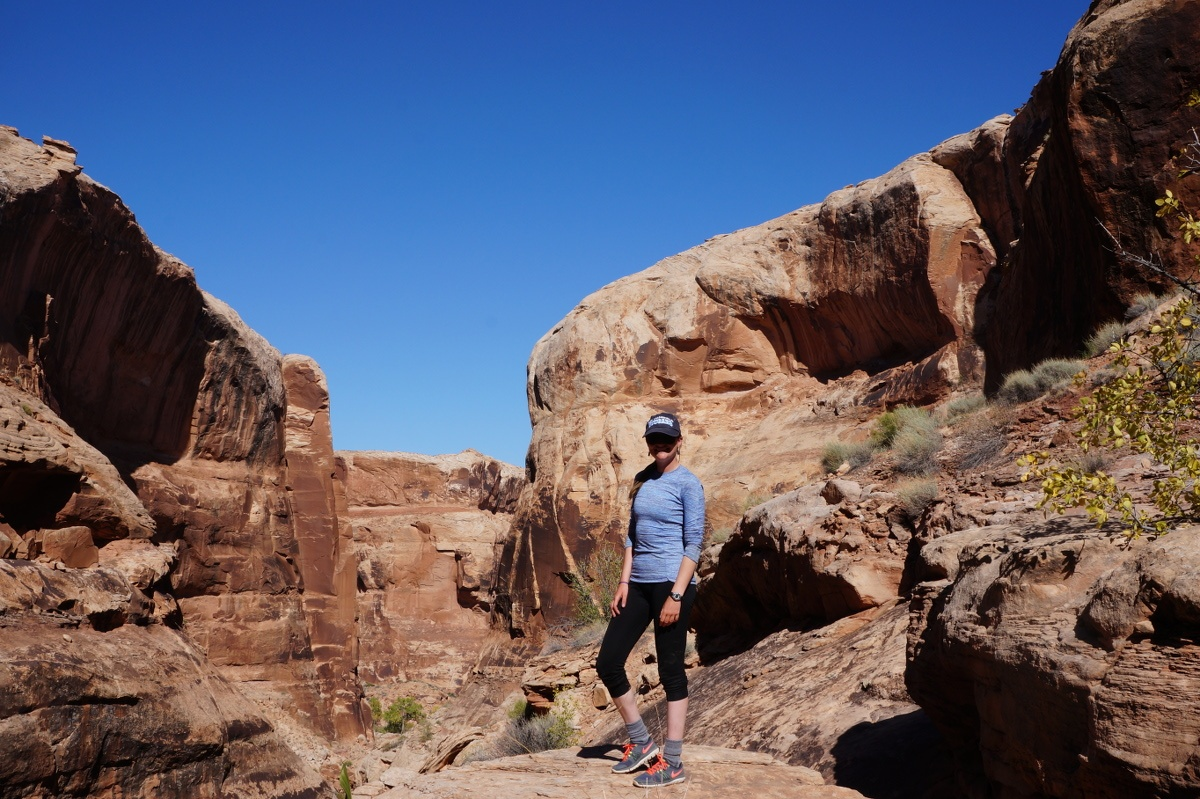 Maddy poses for a photo in the canyons