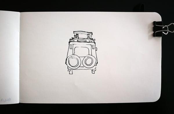 Safari Jeep sketch