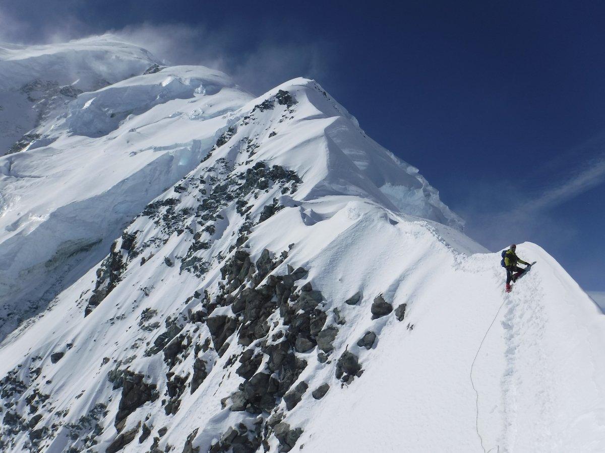 Mountain ridge on Mt. Logan