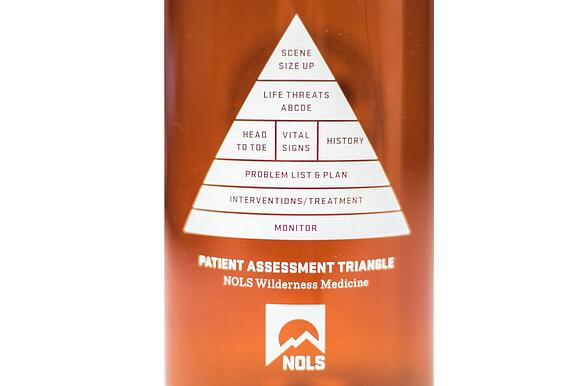 Patient Assessment Triangle on a Water Bottle