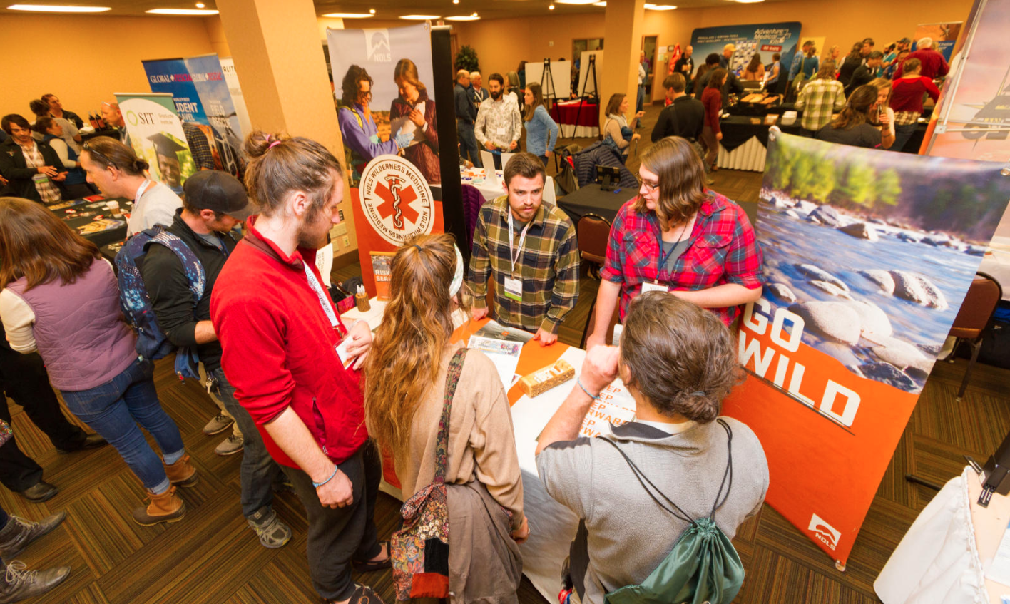 Attendees at 2017 WRMC NOLS exhibitor booth.