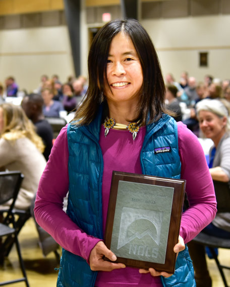 Portrait of Miho Aida receiving NOLS award