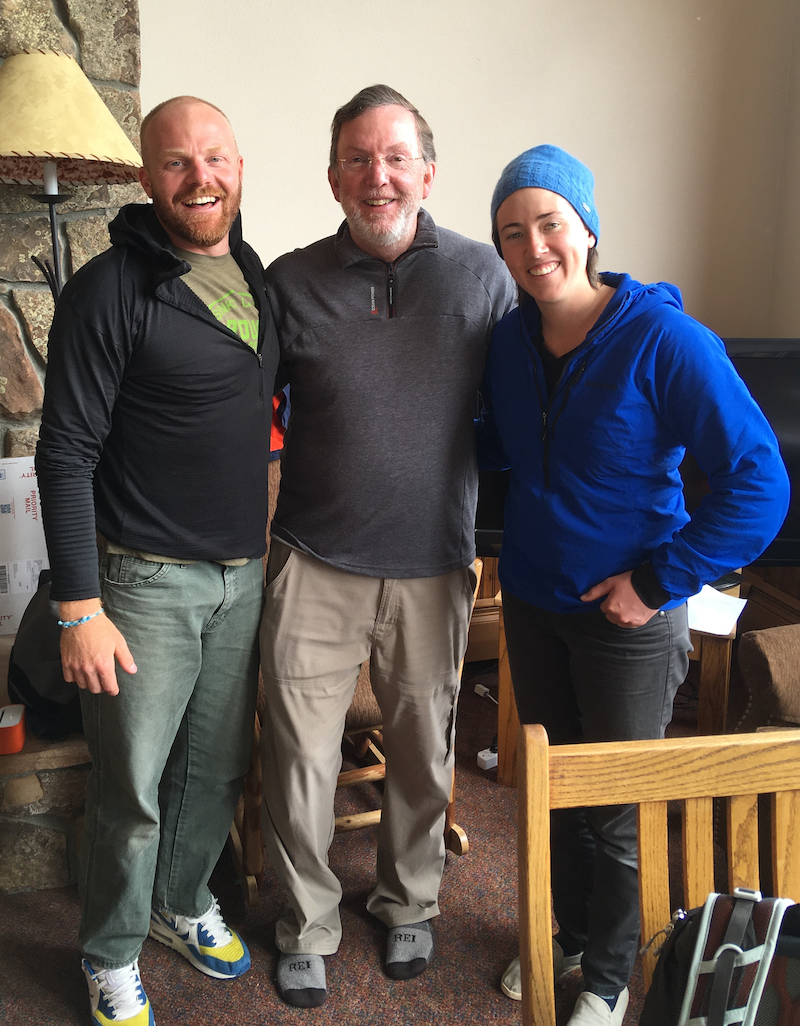 Eric with NOLS instructors Jake Wallace and Brenna Meagher.