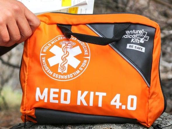 Orange first aid kit