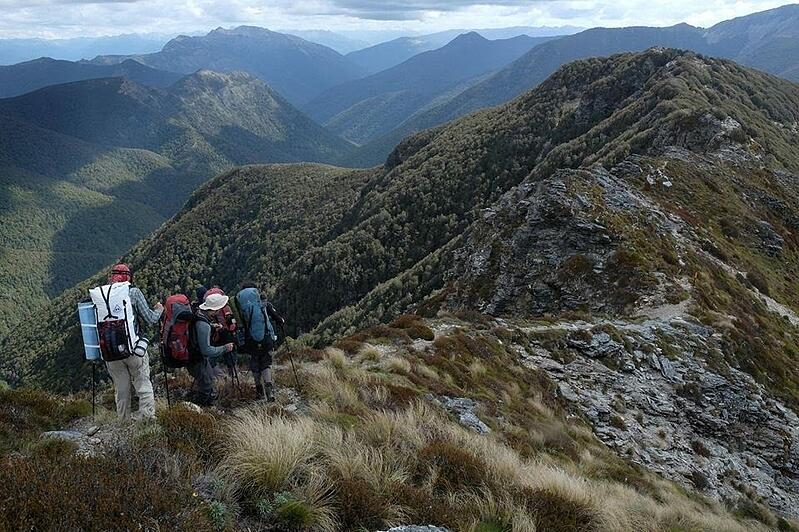 NOLS students hike in New Zealand
