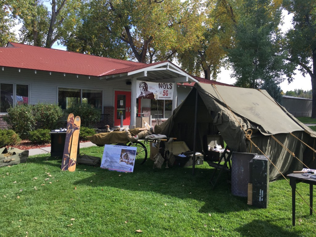 display of 10th Mountain Division artifacts at Lander City Park