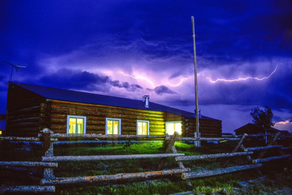 Lightning at NOLS Three Peaks Ranch