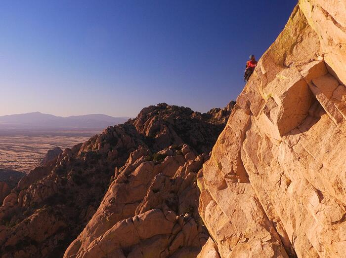 Climbing at Cochise Stronghold
