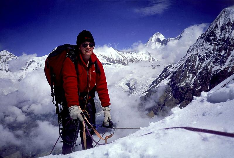 Be inspiration- a woman looking epic while mountaineering in India.