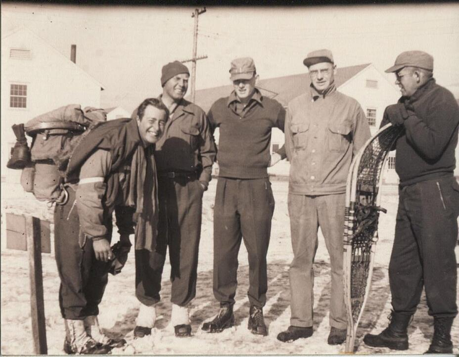 black and white photo of the 10th Mountain Division, including Paul Petzoldt