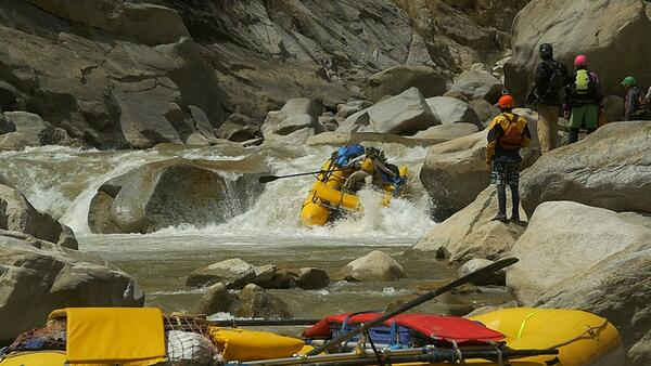 Riding Rapids on Instructor Expedition