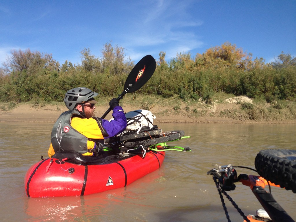 Rafting with bikes