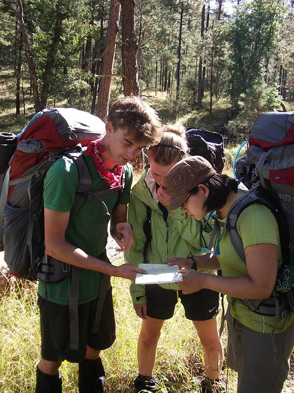 Checking Maps at NOLS Southwest