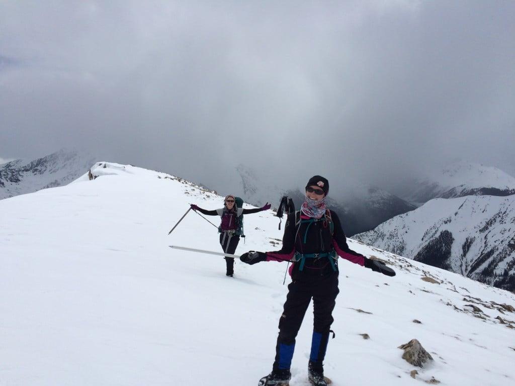 "ladies enjoying snow travel on 13, 823 ""Lackawanna"" in Colorado"