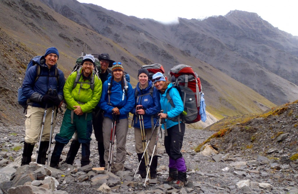 Shelli with Brooks Range Backpacking Group NOLS Alaska