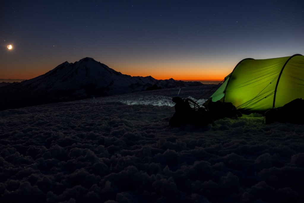 Stargazing from the tent