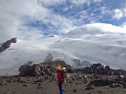 Viewing the Cayambe Summit from Below