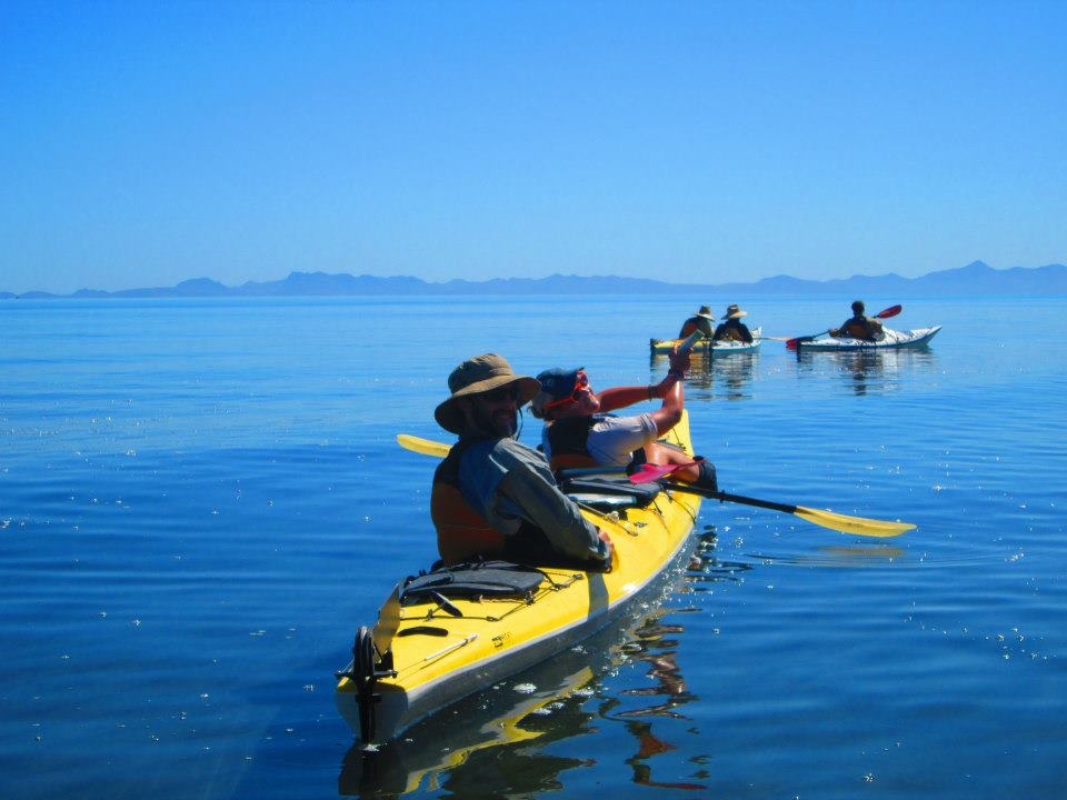NOLS students sea kayak in Baja California, Mexico