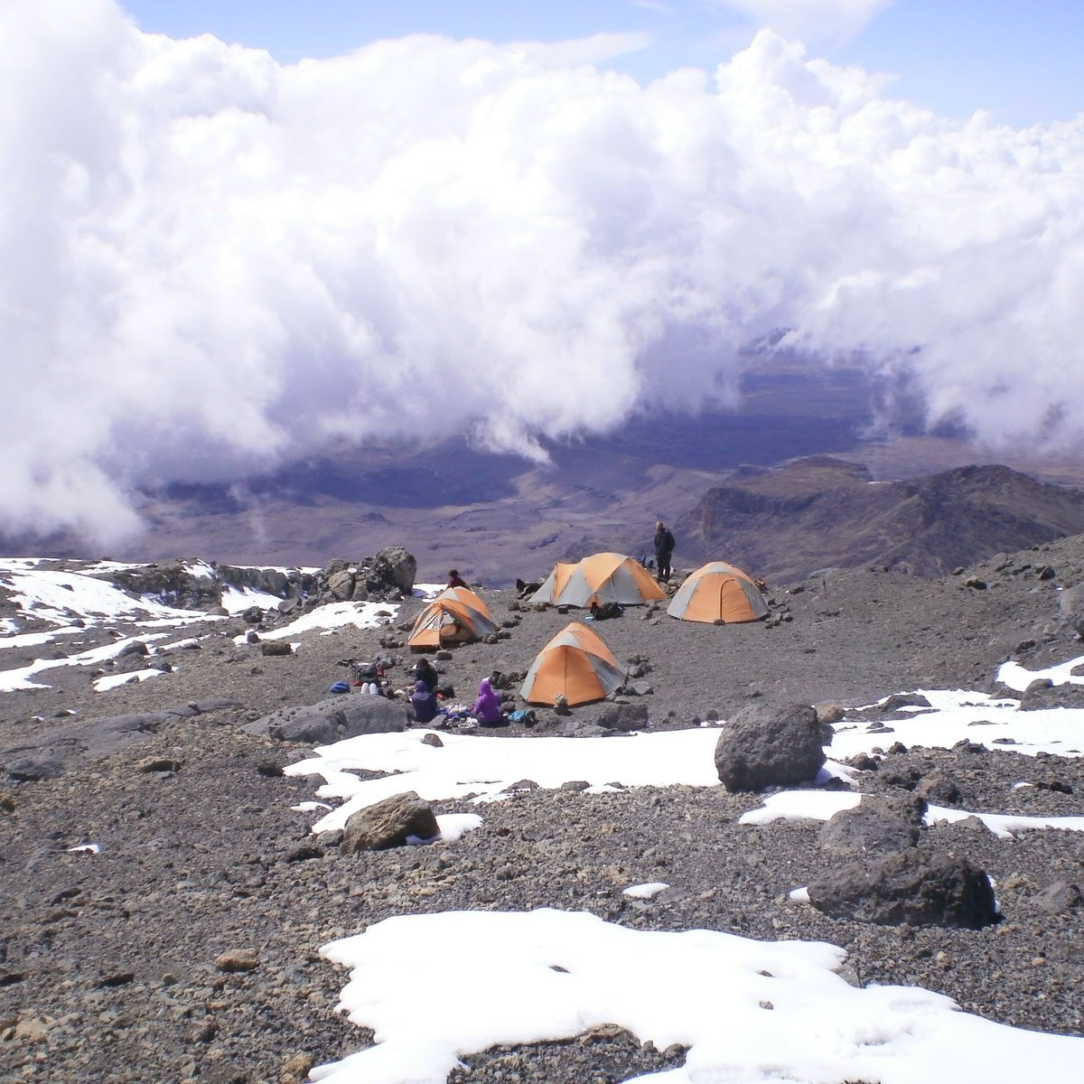 High camp in the mountains of Tanzania
