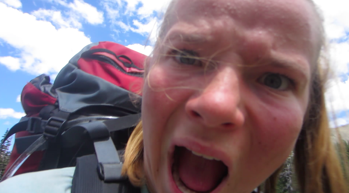 wide-eyed, open-mouthed anticipation of going up a steep pass on a NOLS course