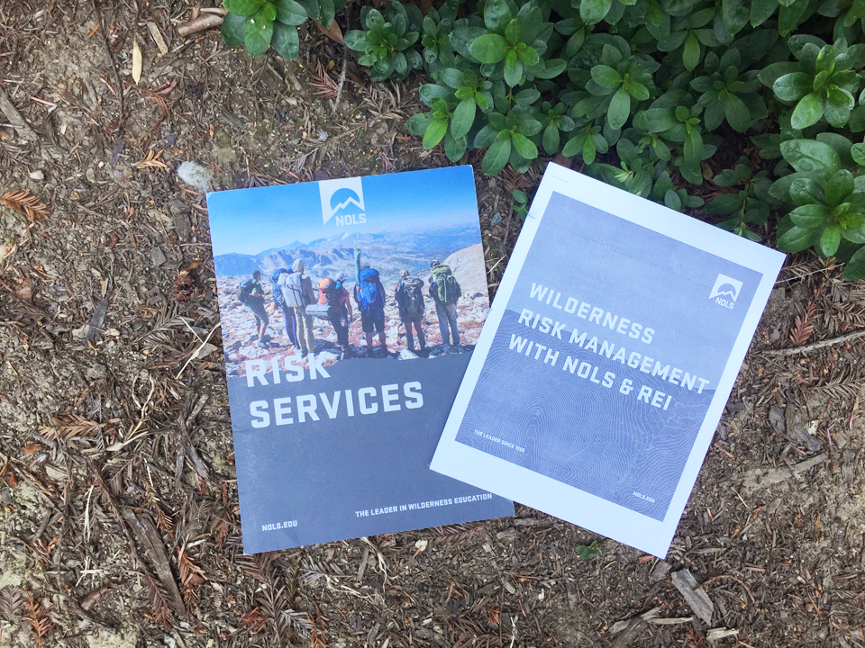 Image of pamphlets for Wilderness Safety Training