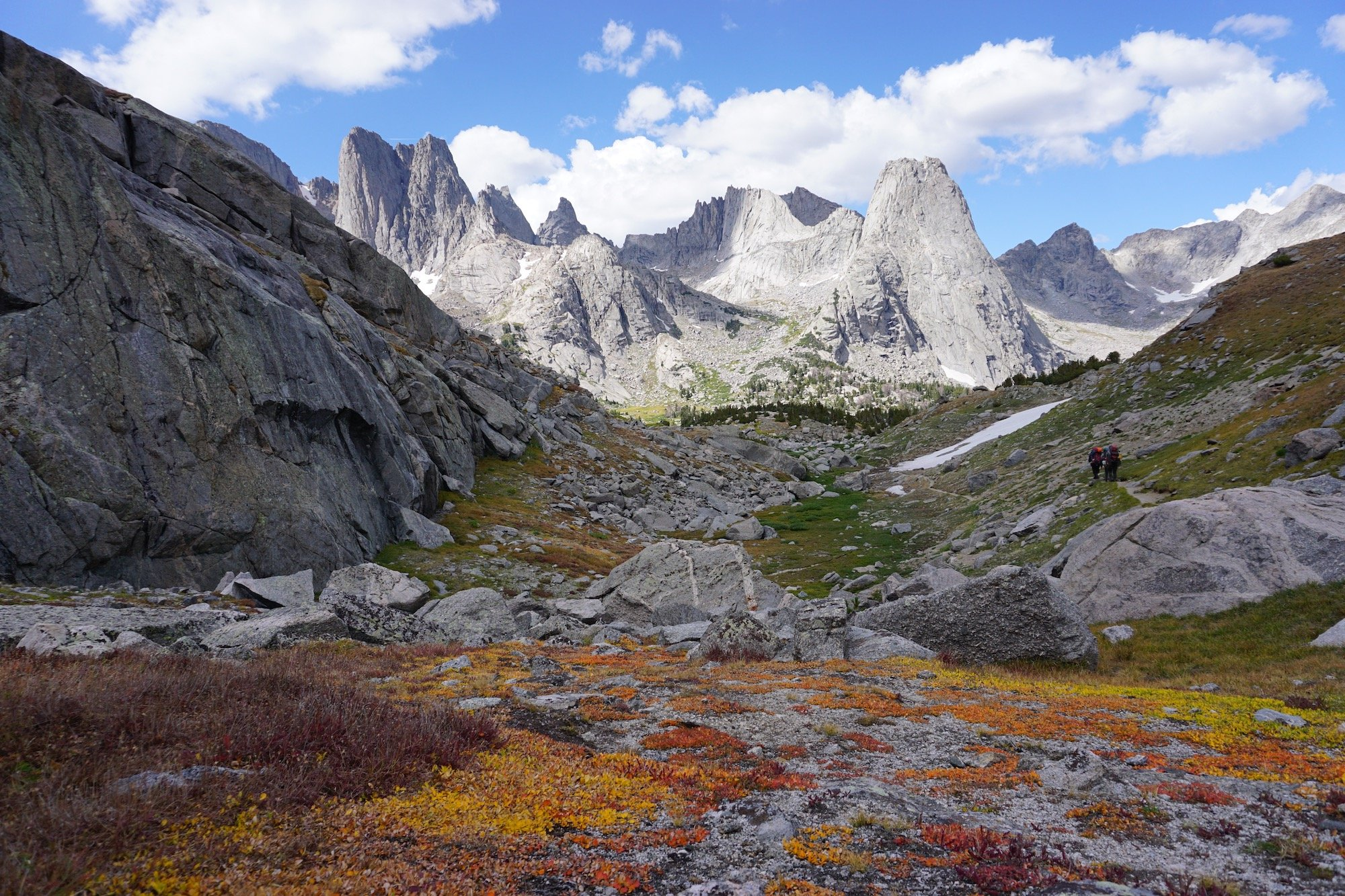Rocky peaks in the Cirque of the Towers in Wyoming's Wind River Range