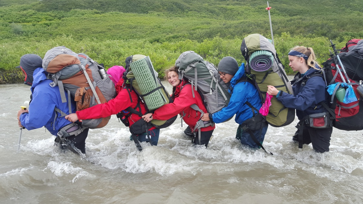 Teamwork on a river crossing