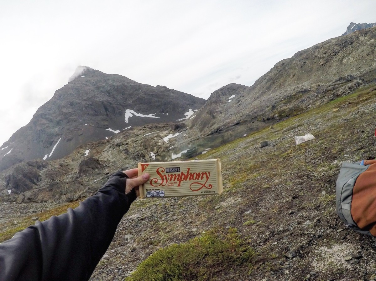 Chocolate bar in the wilderness